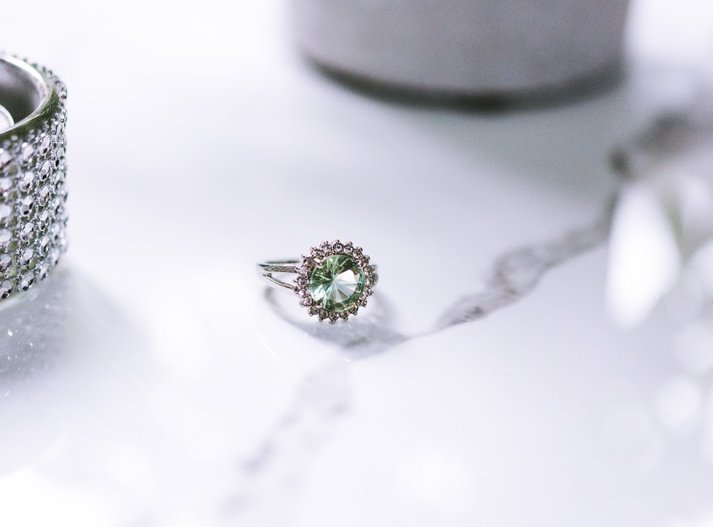 ring on tile. product photography