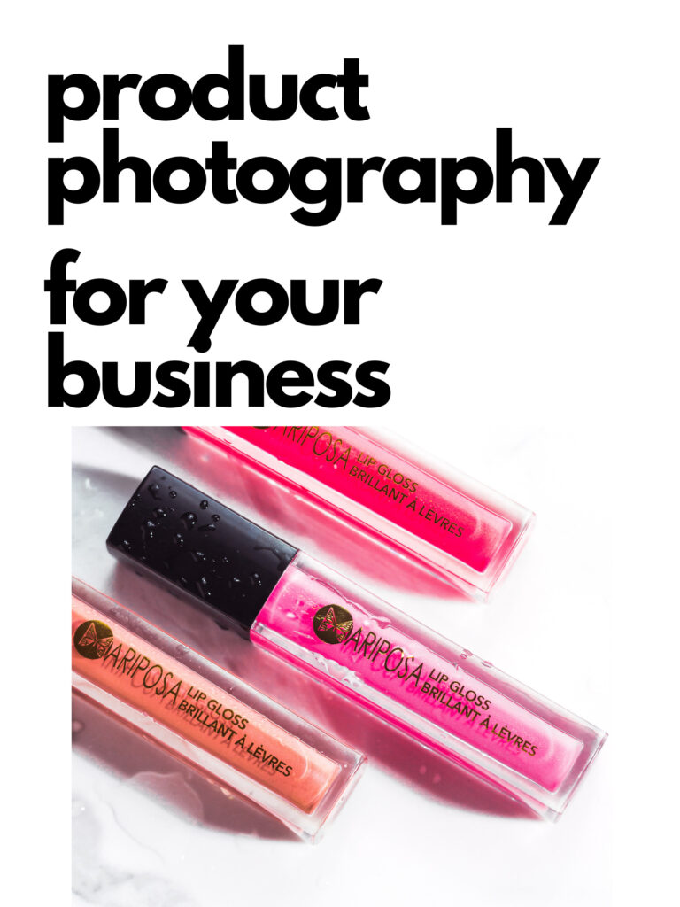 product photography for your business